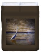 Blue Heron - Shallow Water Duvet Cover