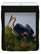 Blue Heron Wing Tips Duvet Cover