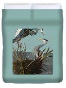 Blue Herons Duvet Cover