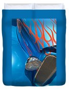Blue Hot Rod Duvet Cover