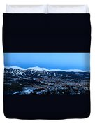 Blue Hour In Breckenridge Duvet Cover