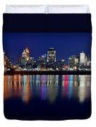 Blue Hour In Cincinnati Duvet Cover