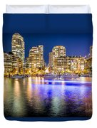Blue Hour In Vancouver Duvet Cover