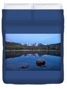 Blue Hour On Sprague Lake Duvet Cover