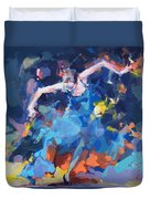 Blue Hurricane Duvet Cover