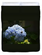 Blue Hydrangea With Bumblebee Duvet Cover