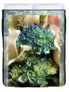 Blue Hydrangeas Painterly Duvet Cover