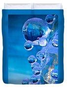Blue Ice Bubbles Duvet Cover