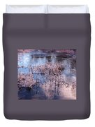 Blue Ice And Reflections Duvet Cover