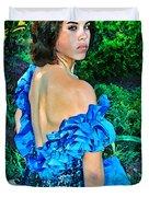 Blue Ice Princess Duvet Cover
