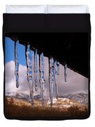 Blue Ice Duvet Cover by Rona Black