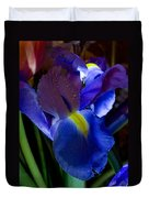 Blue Iris Duvet Cover by Joann Vitali