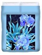 Blue Iris Duvet Cover