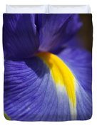 Blue Iris With Yellow Duvet Cover