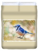 Blue Jay - Digtial Paint Duvet Cover