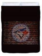 Blue Jays Baseball Graffiti On Brick  Duvet Cover by Movie Poster Prints