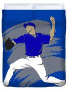 Blue Jays Shadow Player3 Duvet Cover