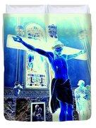 Blue Jesus Duvet Cover