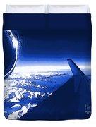 Blue Jet Pop Art Plane Duvet Cover