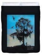 Blue Kite Sunset Duvet Cover