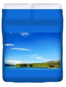 Blue Lake And Green Hills Duvet Cover