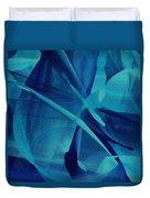 Blue Linear Mesh No 1 Duvet Cover