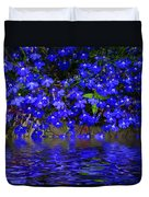 Blue Lobelia Duvet Cover