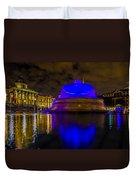 Blue London Fountain Duvet Cover