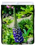 Blue Lupins Duvet Cover