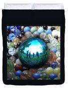 Magic Blue Marble Duvet Cover