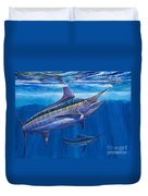 Blue Marlin Bite Off001 Duvet Cover