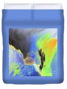 Blue Mars Duvet Cover
