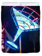 Blue Martini Glass Las Vegas Duvet Cover