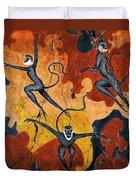 Blue Monkeys No. 8 - Study No. 1 Duvet Cover