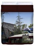 Blue Monorail Fairytale Arts Disneyland Duvet Cover