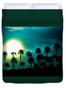 Blue Moon Rising Duvet Cover