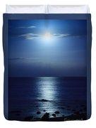 Blue Moon Rising Duvet Cover by Peta Thames