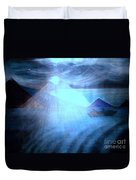 Blue Moon Sailing Duvet Cover