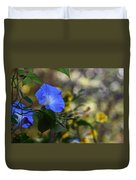 Blue Morning Glories Duvet Cover
