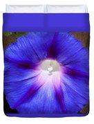 Blue Morning Glory Duvet Cover
