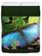 Blue Morpho Duvet Cover