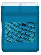 Blue Morpho Wing Scales Duvet Cover