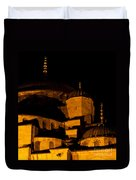 Blue Mosque At Night 02 Duvet Cover