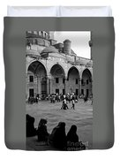 Blue Mosque Courtyard Duvet Cover