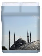 Blue Mosque Dome Behind Hagia Sophia Dome Duvet Cover
