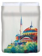 Blue Mosque Sun Kissed Domes Duvet Cover
