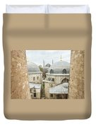 Blue Mosque View From Hagia Sophia Duvet Cover