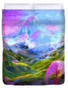 Blue Mountain Pool Duvet Cover by Jane Small