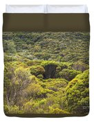 Blue Mountains Greens Duvet Cover