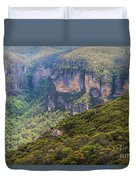 Blue Mountains Viewpoint Duvet Cover